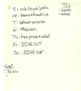 Weekly Menus: 10/30/2011