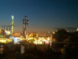 The Sun Sets on Another Day at the N.C. State Fair