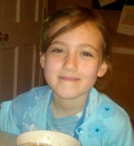 The Eldest, Having Just Enjoyed Maple Butter (from the fair) in Oatmeal
