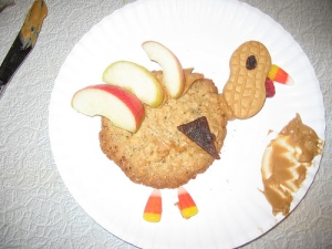 Happy Thanksgiving! Turkey Cookie Craft Completed.