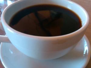 Fresh coffee, at last.