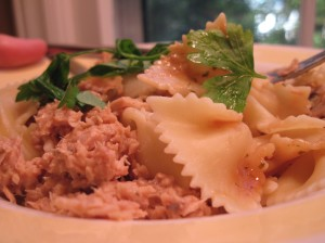 Pasta Tossed with Peanut Butter Tuna Salad