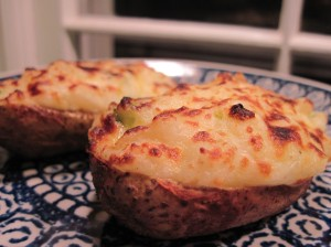 Twice-Baked Potatoes, Ready for Dinner!