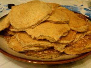 Whole Wheat Waffles Transformed into Pancakes!