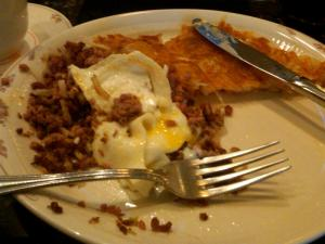 Time stops long enough for a large breakfast at Sear's.