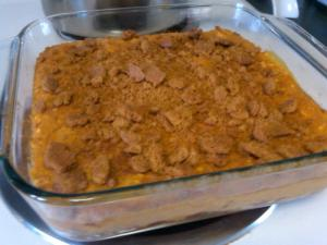 Voila! Pumpkin Coconut Pudding with a Cinnamon Graham Cracker Crust is born!