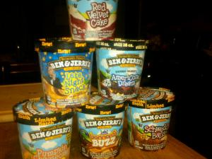 Ben and Jerry's Ice Cream Pyramid: I have more selection than the corner store.