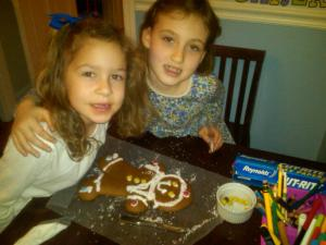 Gingerbread Artistes. Two lefties who can wield a pastry bag and sprinkles with great flair.