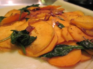 Divide the sweet potato filling evenly between pie crusts.