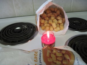 The ritual thawing of the tots by candlelight.