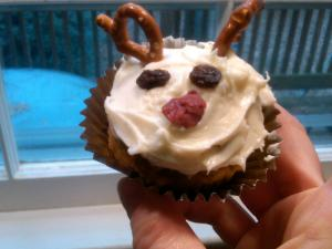 Rudolph the Red Nosed Muffin, Won't You Guide My Snack Tonight?