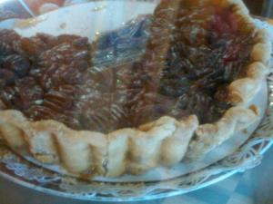 This is one deep-dish pecan pie.