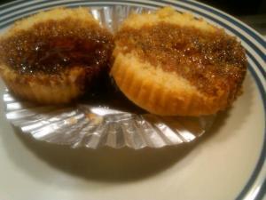 Corn Muffin soaked in molasses.