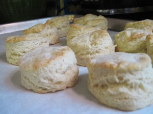 Light golden-brown biscuits!