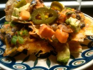 Veggie Nachos Perfected! With pickled jalepeno on top, for good measure.