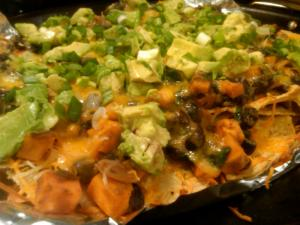 These veggie nachos come loaded.