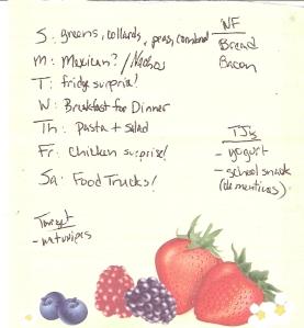 Weekly Menus: 1/1/2012