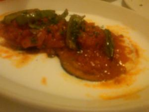 Turkish Fried Eggplant at Bosphorus: I must have dimmed the lights for this photo so I could be alone with it.