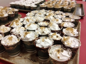 Meet the Pudding Cup Sundaes, resplendent with whipped cream and crushed cookies!