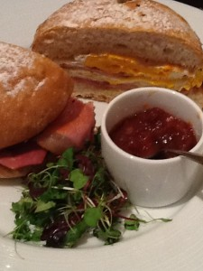 Bacon and Egg Sammie with magical marmalade (Dinner at Heston, Knightsbridge, London)
