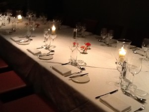 The table settings were more refined, more lovely in London.