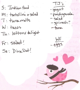 Weekly Menus: 2/5/2012