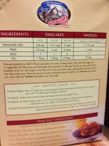 Hodgson Mill Buckwheat Pancake Mix suggested recipe.