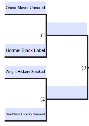 Supermarket Bacon Brackets: Round 1