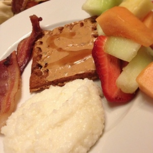 Breakfast for Dinner: I almost forgot, I bought more grits too.