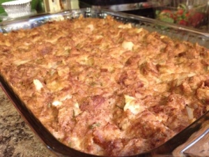 Savory Bread Pudding with Rosemary and Onions