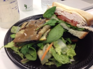 The Corporate Lunch Salad: Dismantle the veggie sandwich and add it to the mix!