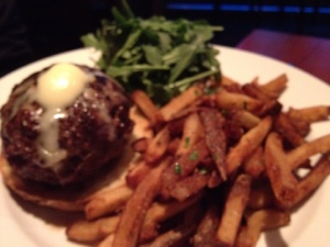 Foie gras burger and fries for the win! (Not on the menu, super delicious.)