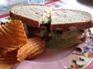 Today's Bonus Recipe: BLT with avocado on rye