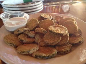 Very respectable fried pickles to be found at Carolina Ale House.