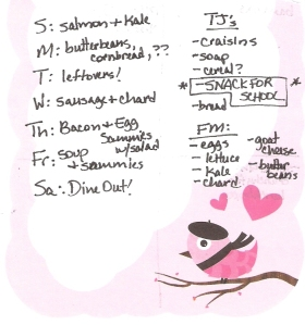 Weekly Menus: 3/4/2012