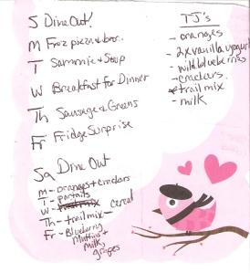 Weekly Menus: 3/18/2012