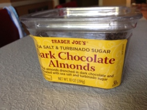 Hello Love: Dark Chocolate Almonds from Trader Joe's