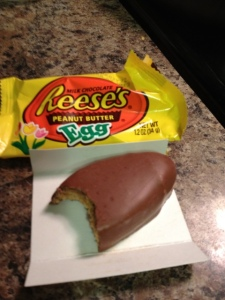 Farewell until next year old friend. (Reese's Peanut Butter Eggs, truly the perfect ratio of chocolate to peanut butter.)