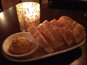 Bread by candlelight at Gregoria's Kitchen in Durham