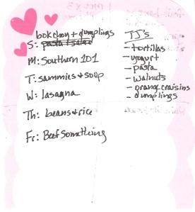 Weekly Menus: 4/22/2012