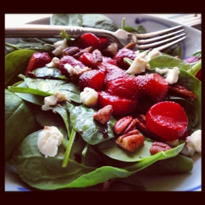 Strawberry Spinach Salad, You're Haunting My Food Memories