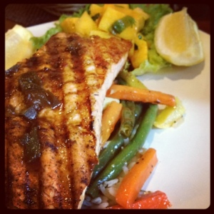 Salmon with Veggies (technically in Santa Clara, but still FTW!)