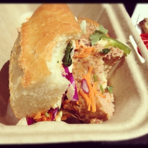 Pork Meatball Bahn Mi with Bacon!