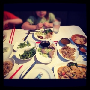 Chinese Tapas, the phrase coined by the Eldest as she calmly ordered half the appetizers.