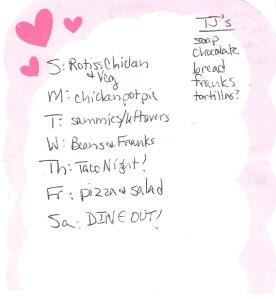 Weekly Menus: 5/6/2012