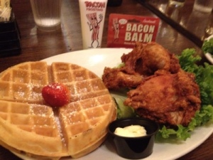 Not bad for SoCal: fried chicken and waffles!