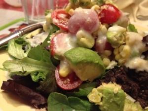 Hello avocado, thanks for sitting atop the Nuevo Southwestern Salad.