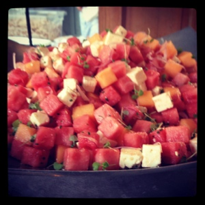 Watermelon Salad with Feta from Fearrington House.