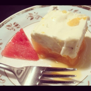 Watermelon Semifreddo: I Think I Love You