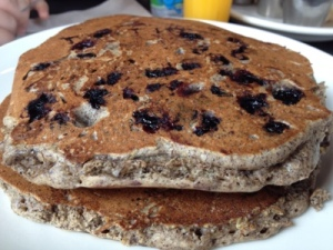 Blueberry Buckwheat Pancakes from Veselka